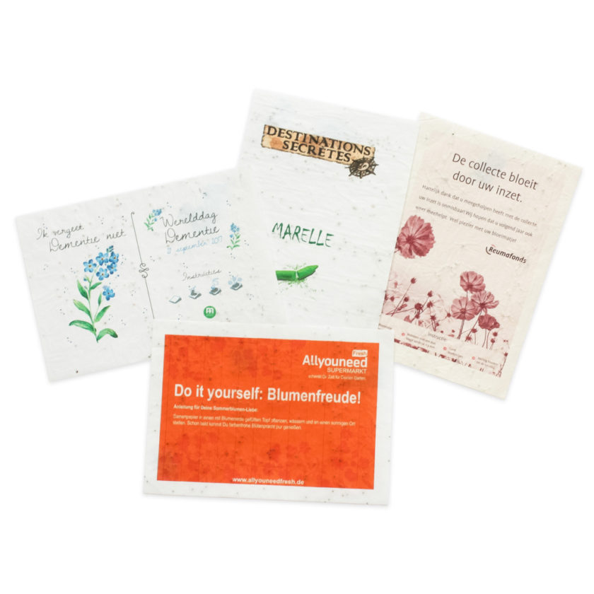 gadget Seedspaper (carta con i semi)