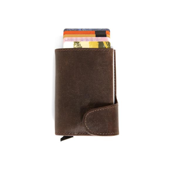 gadget Portafoglio in pelle con porta carta di credito RFID