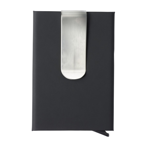 Portacarte in alluminio con soft touch