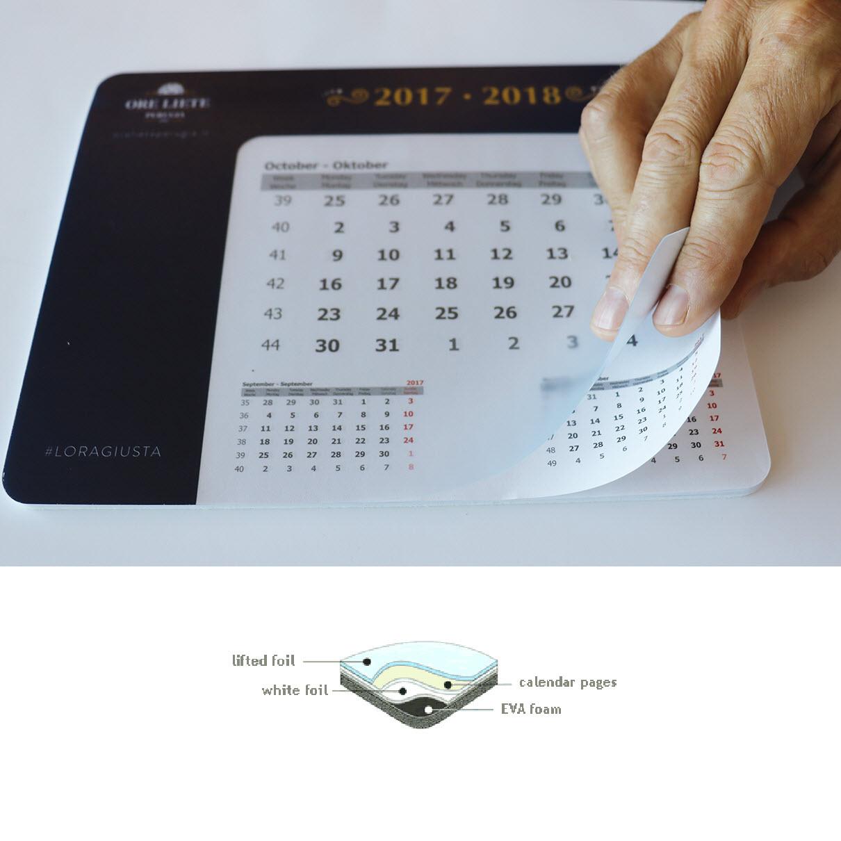 Gadget Calendario.Calendario Optico Mousepad Universale Stocchi Gadget