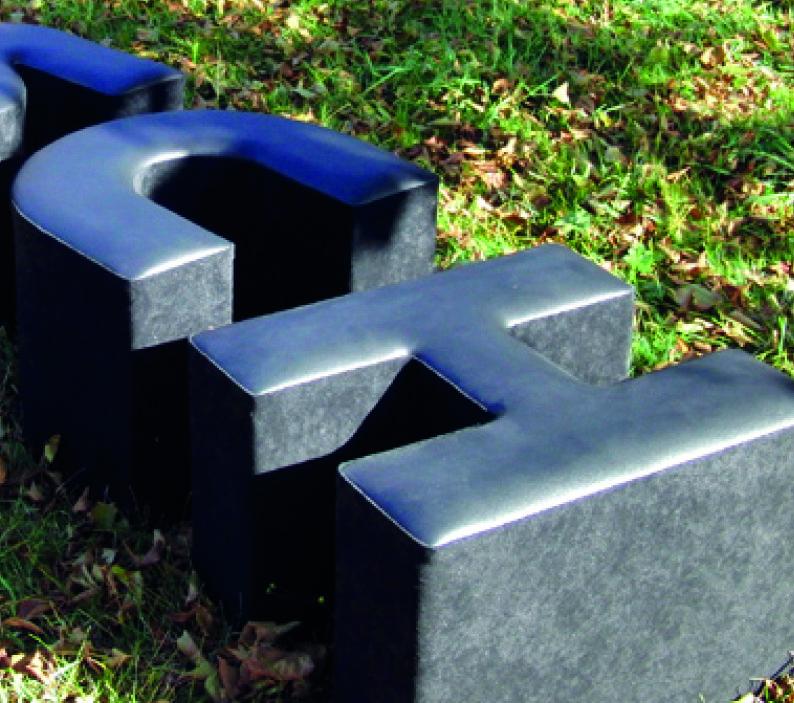 Pouf a lettere componibili