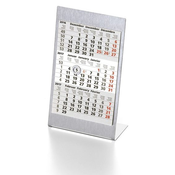 Calendario Trimestrali.Calendario Trimestrale Da Tavolo In Acciaio Stocchi Gadget