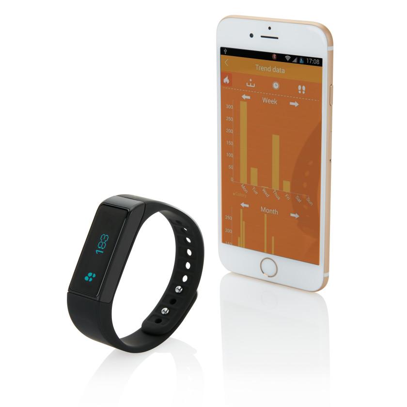 Braccialetto per il fitness con touchscreen impermeabile