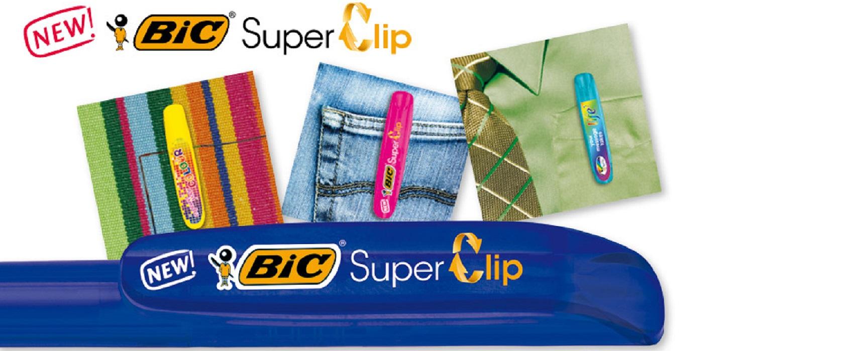 Penna BIC SuperClip. La personalità del TUO marchio SULLA CLIP.